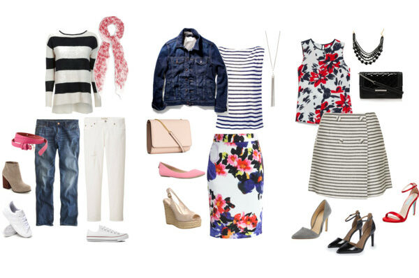 pattern mixing: stripes and florals