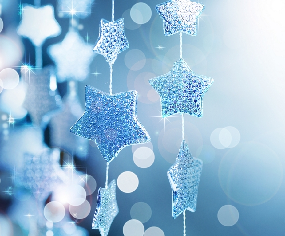 Winter star decorations