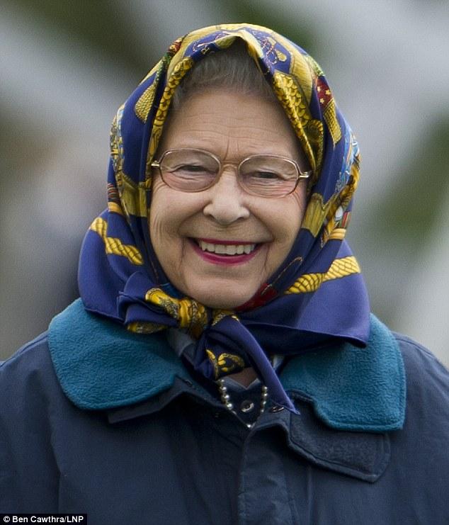 queen of england - hermes scarf