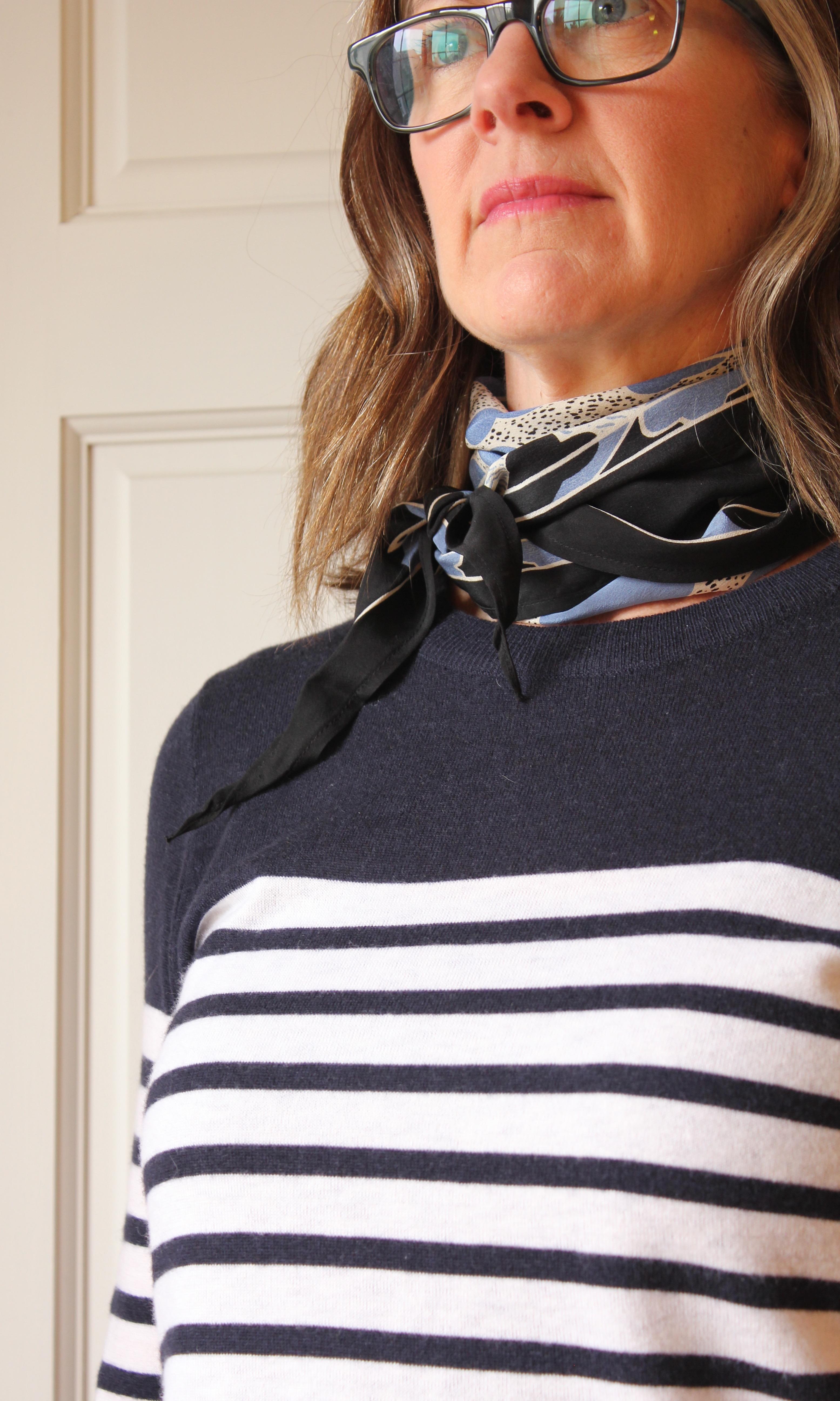 skinny silk scarf - french twist tie
