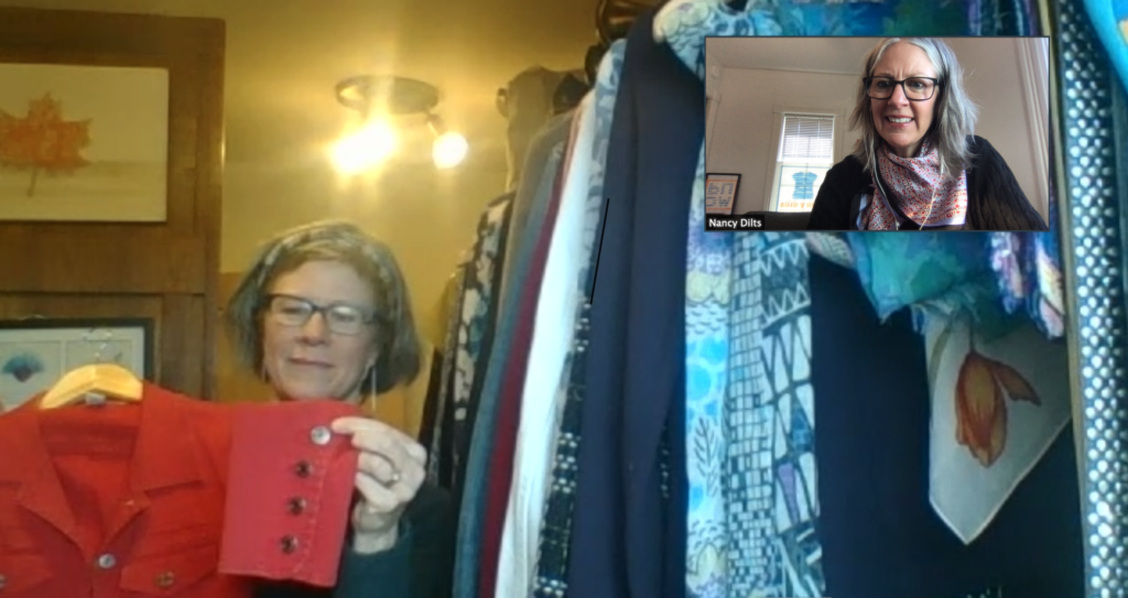 Nancy Dilts conducts a virtual closet consult